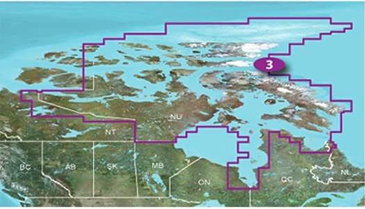Garmin TOPO! Nunavut 加拿大地图 microSD 卡010-C1011-00