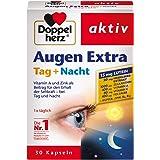 Doppelherz Augen Extra胶囊白天+夜晚 膳食营养补充剂 含维生素A和锌 -蓝莓提取物和叶黄素 1 x…