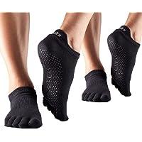 ToeSox 全趾低腰抓地瑜伽普拉提袜 2 双装