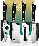 DALSTRONG Charcuterie & Cheese 刀套装 - 4 件套 - 角斗士系列 - 迷你刀、锯齿刀、圆头、叉奶酪刀 - 高碳德国钢 - G10 Garolite 刀柄 - w/.Sheath
