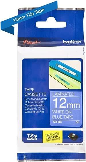 Brother 兄弟 Original P-touch 普贴趣标签带 TZe-535 weiß auf blau