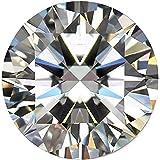 A 级白色莫桑石钻石 2.40 克拉圆形钻石,散装白色莫桑石钻石宝石
