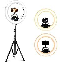 UBeesize 16 英寸(约 40.6 厘米)环形灯,带支架,3000-6000K LED 环形灯,用于视频拍摄、摄…