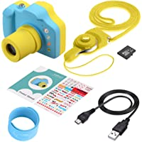 ZCGC DC1703 可爱的儿童数码相机儿童高清迷你数码录像机相机带 8GB 存储卡适*为假日生日礼物(粉色). 蓝色