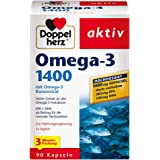 Doppelherz Omega-3 1400 mg 3个月装 含高剂量omega-3浓缩物及维生素E的营养补充剂 高含…