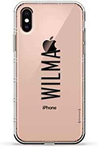 Luxendary Air 系列透明硅胶保护套 3D 印花设计气袋缓冲缓冲 iPhone Xs/X(5.8 英寸屏幕)LUX-IXAIR-NMWILMA2 NAME: WILMA, MODERN FONT STYLE 透明