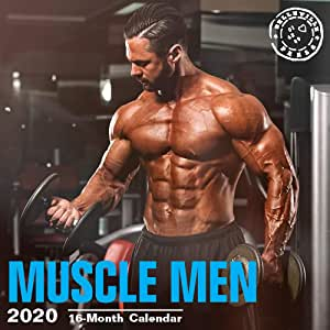 2020 Hot Guys 16 个月 12 x 12 壁历 Bright Day Calendars 出品(化妆系列) Muscle Men 2020