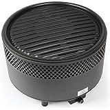 Kbabe 便携式木炭烤架,紧凑烧烤炉 - 非常适合露营/野餐/背包/后院/生存/应急准备 - 黑色