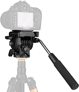 pangshi 摄像机三脚架动作 液体拖拉头 适用于佳能 尼康 索尼 DSLR 摄像机 摄录制pang-459 VT-1510 Fluid Head