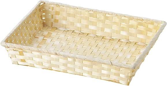 山下工艺(Yamasita craft) 简易篮子 W31.5×D23.5×H8cm 82105000