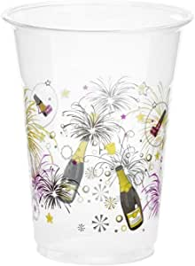 KOVOT 50 Count 16-Ounce Plastic Cups New Years Celebration
