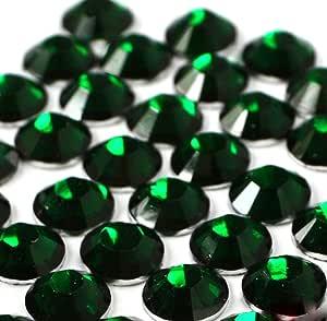 2mm、3mm、4mm、5mm、6mm DIY 树脂圆形平背水钻闪亮 14 切面平背带水钻平背样 GreatDeal68 出品 玉石绿 2mm (1000 pcs) A