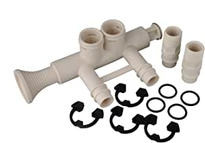7345396 - 高流量 2.54 厘米水软剂旁通阀套件,带 (2) 个适配器,(4) 个夹子和 (4) 个 O 型环