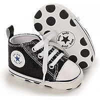 学步女童男童婴儿帆布鞋 软底 First Walker 婴儿新生儿婴儿鞋