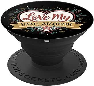 女式 I Love My Loan 设计女性朋友妻子礼物流行袜手机和平板电脑抓握支架260027  黑色