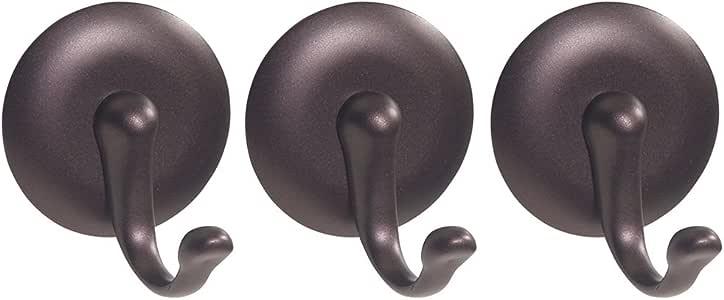 InterDesign York Self Adhesive Hook, Large, Bronze, Set of 3