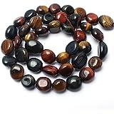 Love Beads 宝石珠不规则散装宝石珠 8-11mm 珠宝制作 多色虎眼 724708