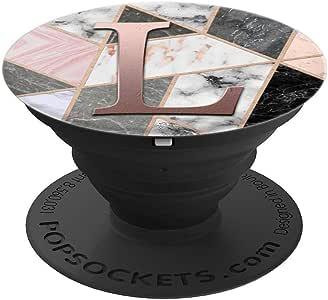 金玫瑰粉字母 L 黑色粉灰色白色 PopSockets 手机和平板电脑260027  黑色