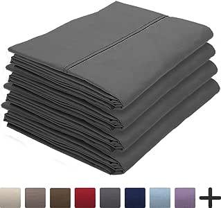 Bare Home 枕套套装 灰色 Standard - 4 Pack 643665962155