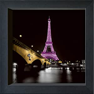 """国际图形带框明信片 - Valverde,Anne - """"女士粉红色"""" - 16 x 16 厘米 - 4 个框架 16 x 16 cm 黑色"""