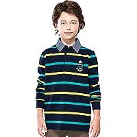 Leo&Lily 男童长袖条纹开衫 橄榄球衫 LLB3B08