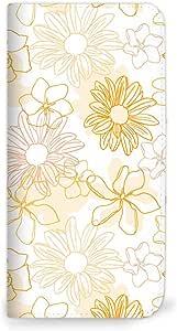 Mitas 智能手机壳 笔记本式 花朵 オレンジ(ベルトなし) 18_Huawei GR5 (KII-L22)
