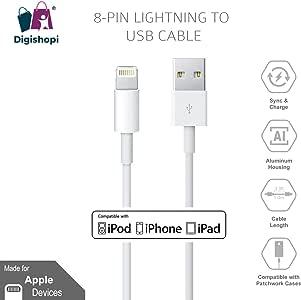 Apple iPhone 1 米数据线,白色