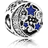 Pandora 潘多拉 女士银串珠饰物-791992CZ,蓝色