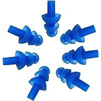 5 对防水软硅胶耳塞耳塞塞 线圈 适合游泳或睡觉蓝色