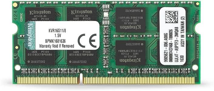 Kingston 金士顿 KVR16LS11/8 DDR3 1600/8G(8G*1)笔记本内存(蓝色绿色随机)