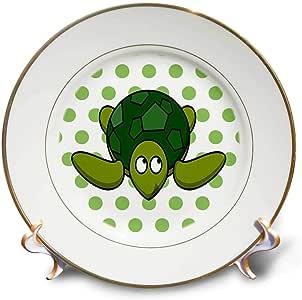 florene–儿童艺术 IV–印花 OF 卡通乌龟绿色圆点–盘子