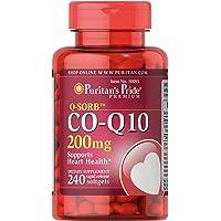 Puritan's Pride 普丽普莱 辅酶Q10快速释放软胶囊,200毫克,有益于心脏,240粒