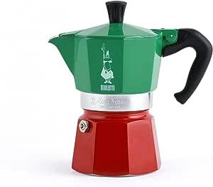 "Bialetti 5322 意式浓缩咖啡机""Moka Express"" 铝制,30 x 20 x 15cm,绿/红色"