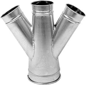 Nordfab Ducting 3226-1411-214075 QF 双分支 45 度 14-11-14-7,14 英寸直径,SS 304