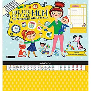 Mom's Do It All Wall Calendar Orange Circle Studios