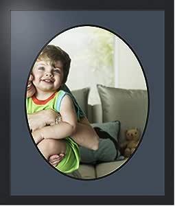 ArtToFrames 拼贴照片框双垫,带 1 个开口和黑色缎框。 Blue Jay 16x20 Double-Multimat-1492-586/89-FRBW26079