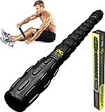 肌肉滚腿按摩器 - 适合运动员的*佳按摩滚柱棒 - 深层组织、触发点、抽筋、四头肌、小腿和肌筋束紧、肌筋膜释放 - 可到达任何地方