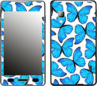 DISAGU SF 106523 _ 1273 LG Optimus L5 II (E460) 手机套,蓝色蝴蝶图案,小号