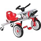ROLLPLAY 座椅车,飞机设计带踏板驱动,适合 2.5 岁及以上儿童,*大 25 千克,Planedo,银色