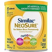 Similac 雅培 NeoSure 婴儿配方奶粉,含铁,适合早产婴儿,粉末,13.1 盎司(371g)(6罐装)