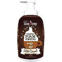 Jordan's Skinny Syrups 无糖盐渍焦糖打发咖啡顶部泡沫  含0卡路里,0糖,0碳水化合物的健康口味  16盎司(475ml)瓶装