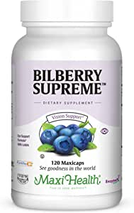 Maxi Health Bilberry Supreme with Eyebright and Lutein Eye Support Formula, 120 Count