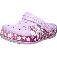 Crocs 儿童 Unicorn Band 洞洞鞋   幼儿、男孩、女孩一脚蹬水鞋