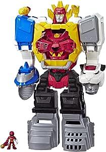 Playskool Heroes 恐龙战队 大兽神, 二合一变形玩具, 2英尺/约60.96厘米金刚战神 带灯效& 声效, 3岁及3岁以上儿童