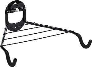 Relaxdays 自行车架,适用于 1 个自行车,墙壁安装的自行车架,*大 25 千克,HBT 13.5 x 33 x 31 厘米,黑色