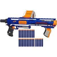 Nerf 儿童玩具枪 Rampage N-Strike Elite Toy Blaster 25头子弹筒&25颗官方Elite泡沫子弹 适合儿童 青少年和成人