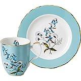 Royal Albert 100 Years 40035849 带盘子的杯子 20 厘米 蓝色 骨瓷 节日