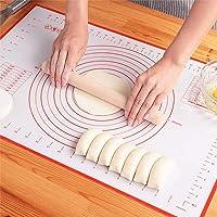 大号硅胶糕点垫超厚不粘烘焙垫易清洁揉捏垫带测量软糖垫(40.64 cm x 60.96 cm)