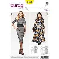 Burda B6454 Patron 连衣裙,纸张,白色,19 x 14 x 0.5 厘米