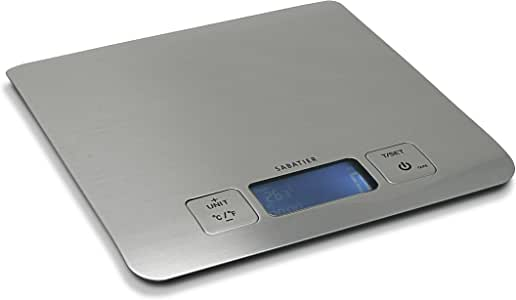Sabatier Stainless Steel Multifunction Digital Kitchen and Food Scale, 22-Pound